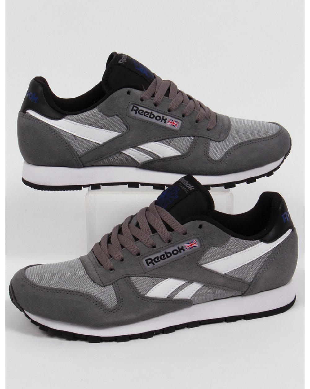 8ab5ab6a81 Reebok Reebok Classic Sport Clean Trainers Shark Grey white