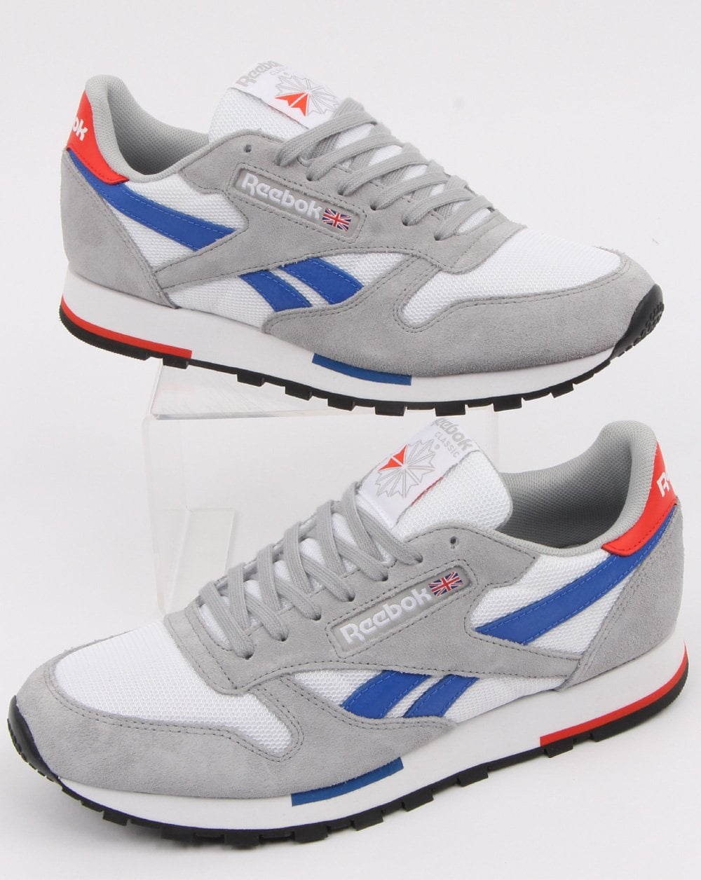9c0ebe565a Reebok Classic Trainers White in Grey & Blue | 80s Casual Classics