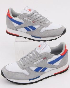 6e043b9ce3216d Reebok Classic Trainers White Grey Blue