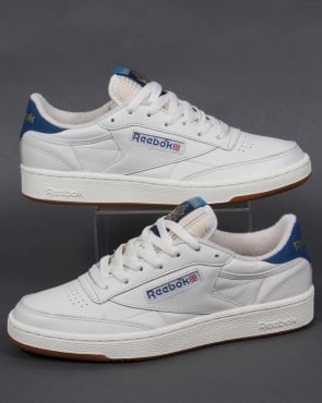 Reebok Club 85 Retro Trainers Chalk White/Blue