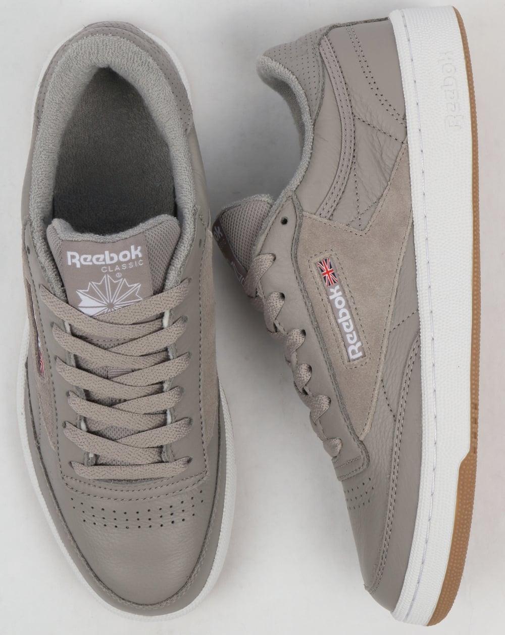 Reebok Club Grey Trainers Shoes Suede Powder Leather C Estl Mens 85 Erq0wOE