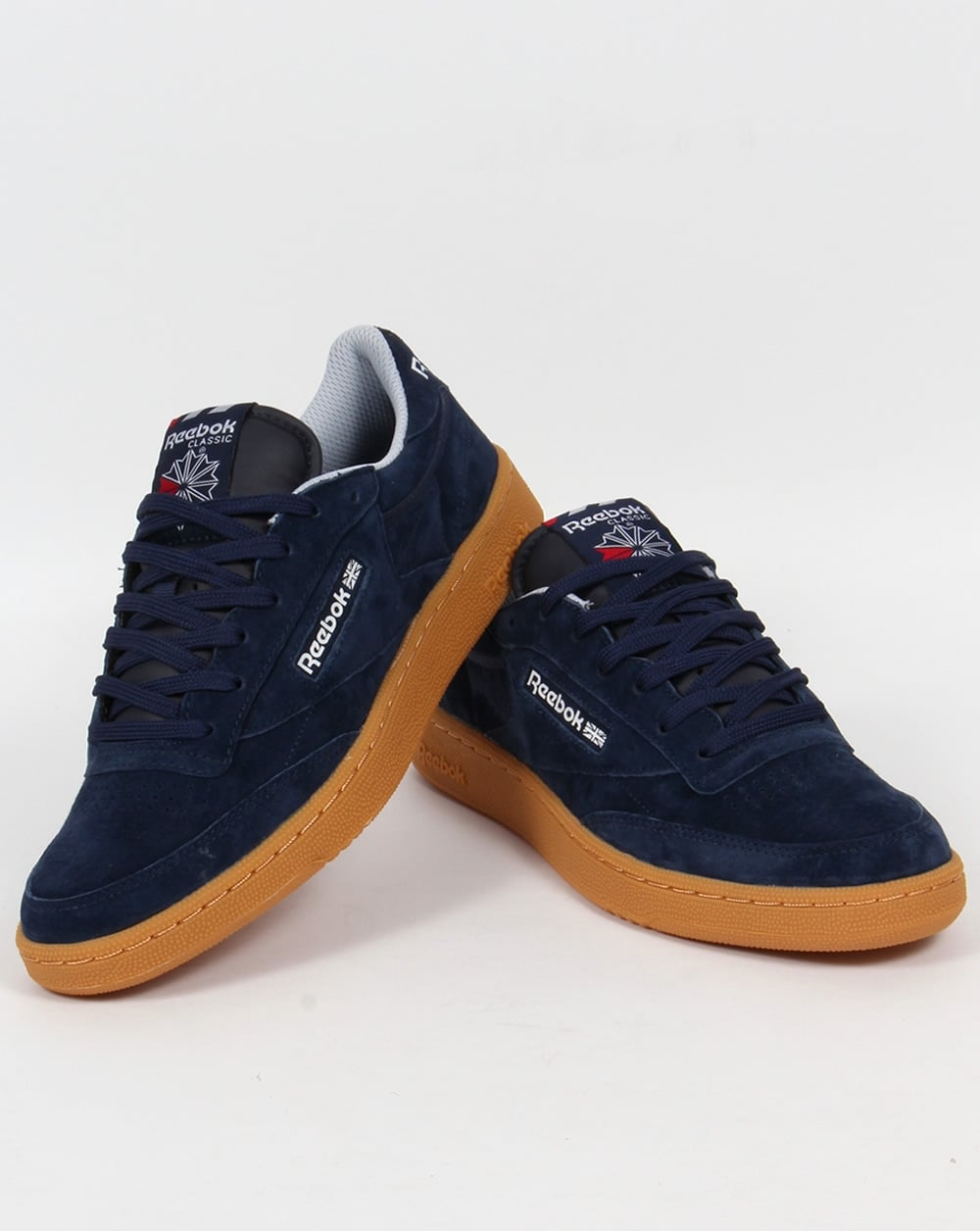 reebok club c 85 indoor trainers navy gum men 39 s workout. Black Bedroom Furniture Sets. Home Design Ideas