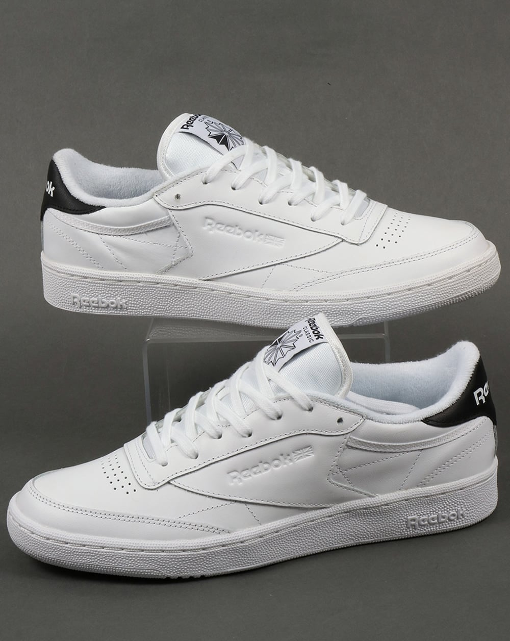 e28ea3c2543 Reebok Reebok Club C 85 Retro Trainers White Black