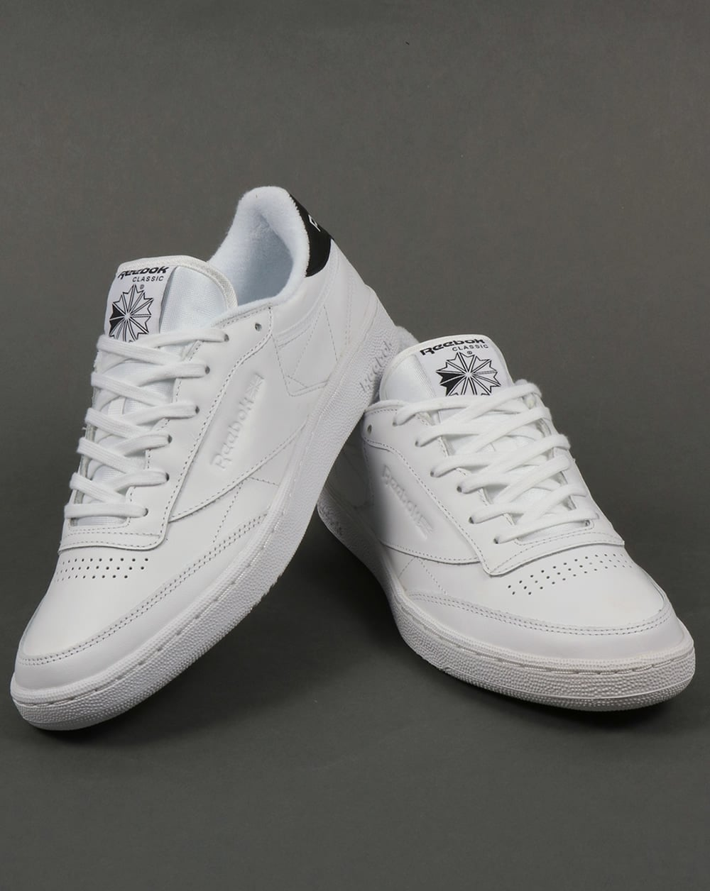 c4cc10938f9 Reebok Club C 85 Retro Trainers White Black