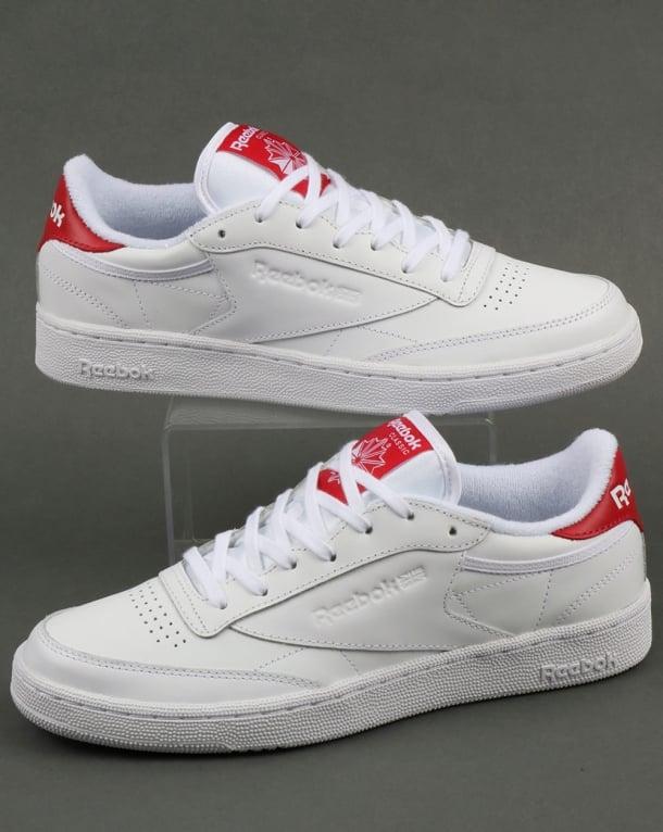 Reebok Club C 85 Retro Trainers White/Red