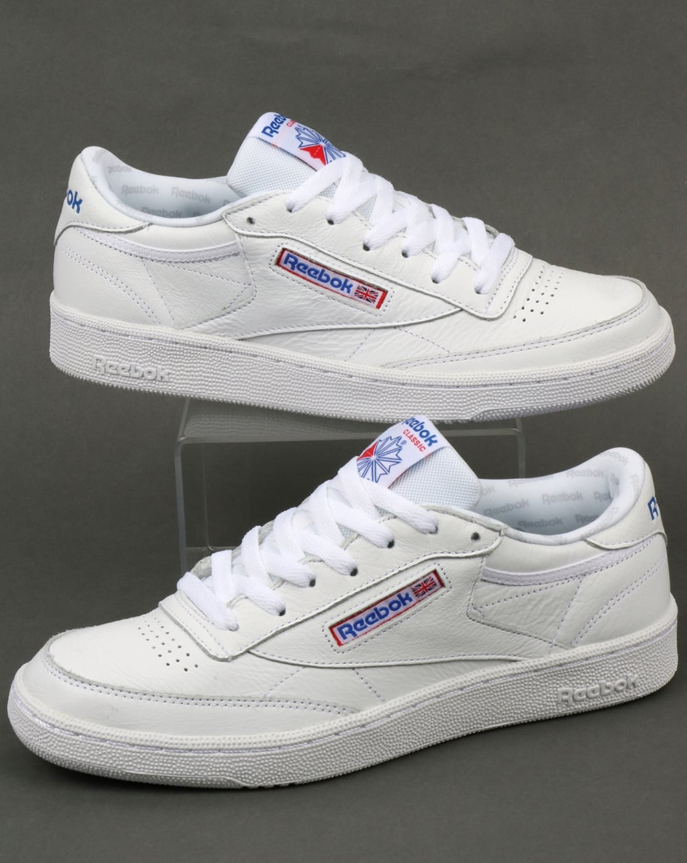 5f08a211e79 Reebok Reebok Club C 85 SO Trainers White Solid Grey