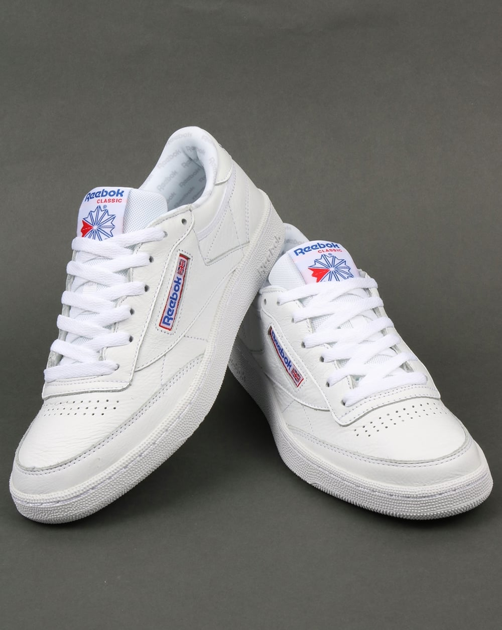 bf08612123a Reebok Club C 85 SO Trainers White Solid Grey