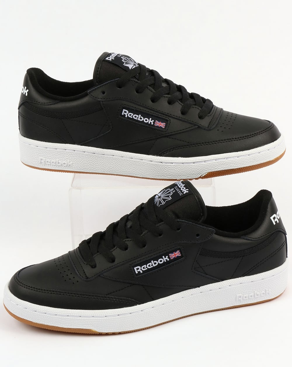 reebok club c tennis shoes black