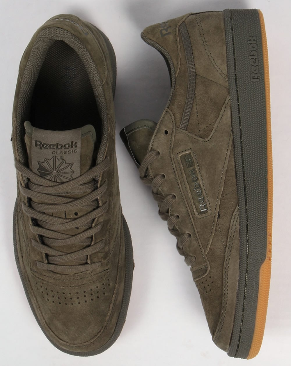 095bed568 Reebok Club C 85 Trainers Hunter Green,shoe,gum,suede,mens