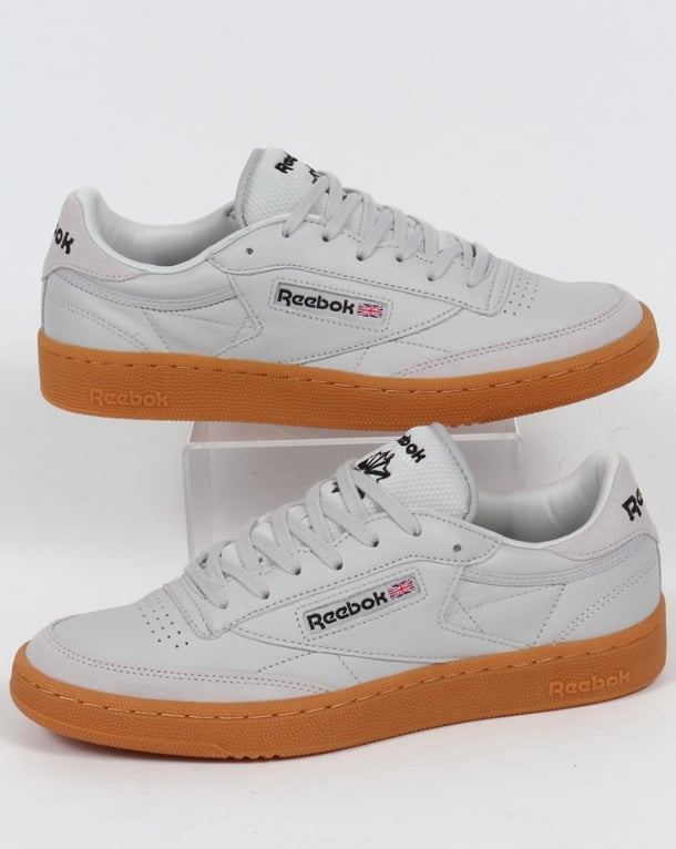 Reebok Club C 85 Trainers Skull Grey/Black/Red