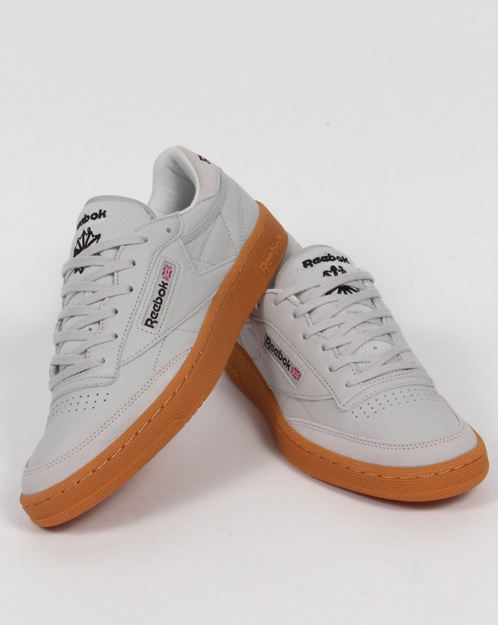 a5646962610 Reebok Club C 85 Trainers Skull Grey Black Red