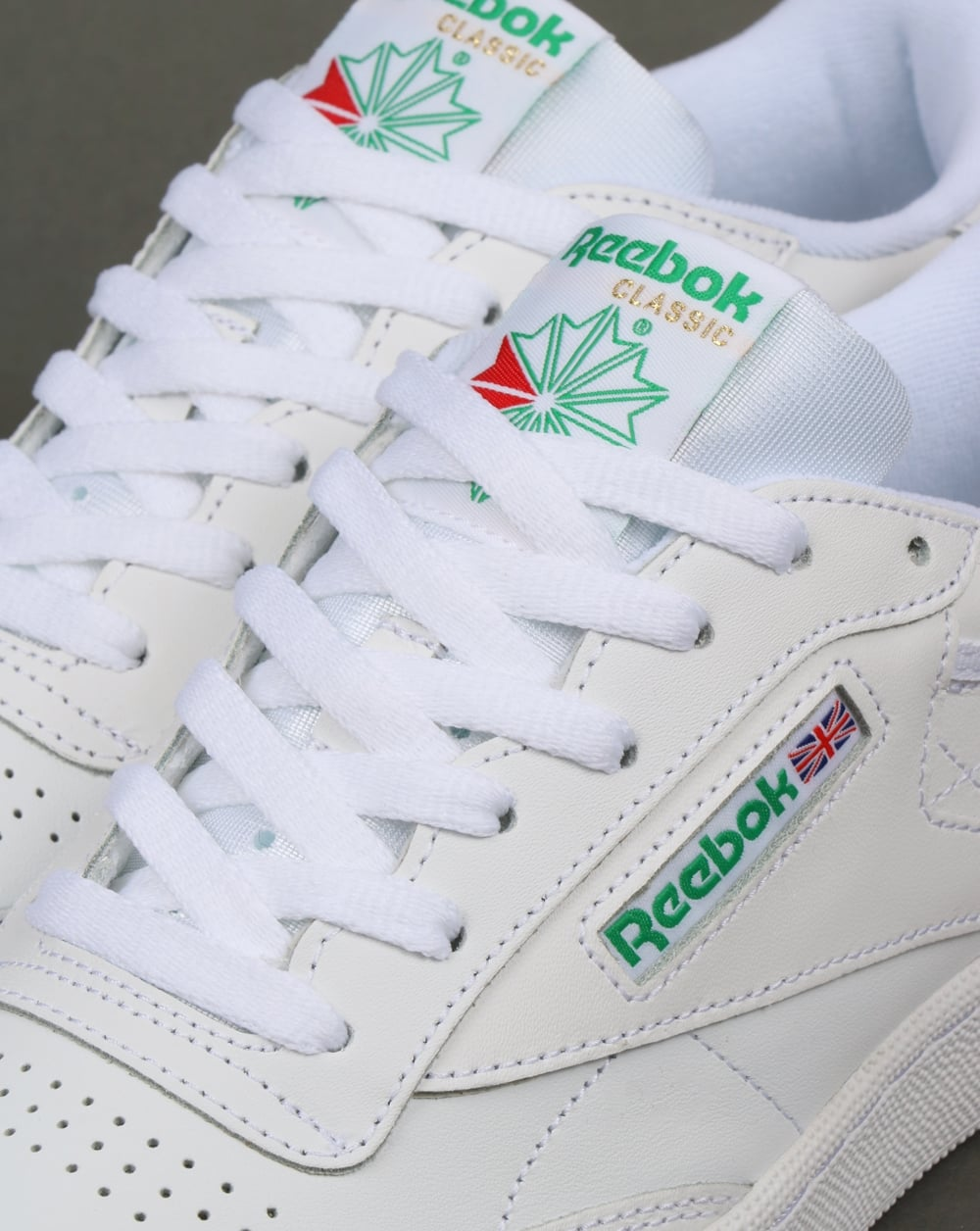 949bb22780f2 Reebok Club C 85 Trainers in White and Green