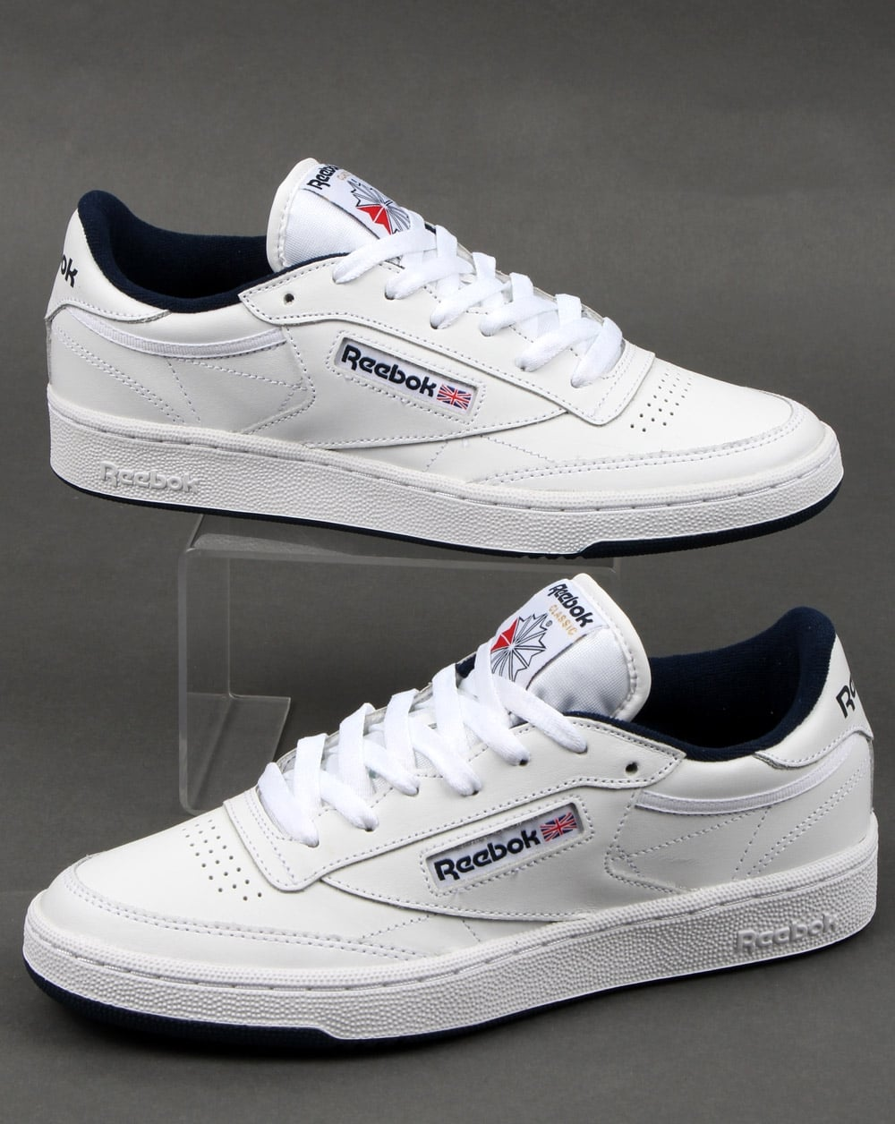 9b719a27d2a Reebok Reebok Club C 85 Trainers White Navy