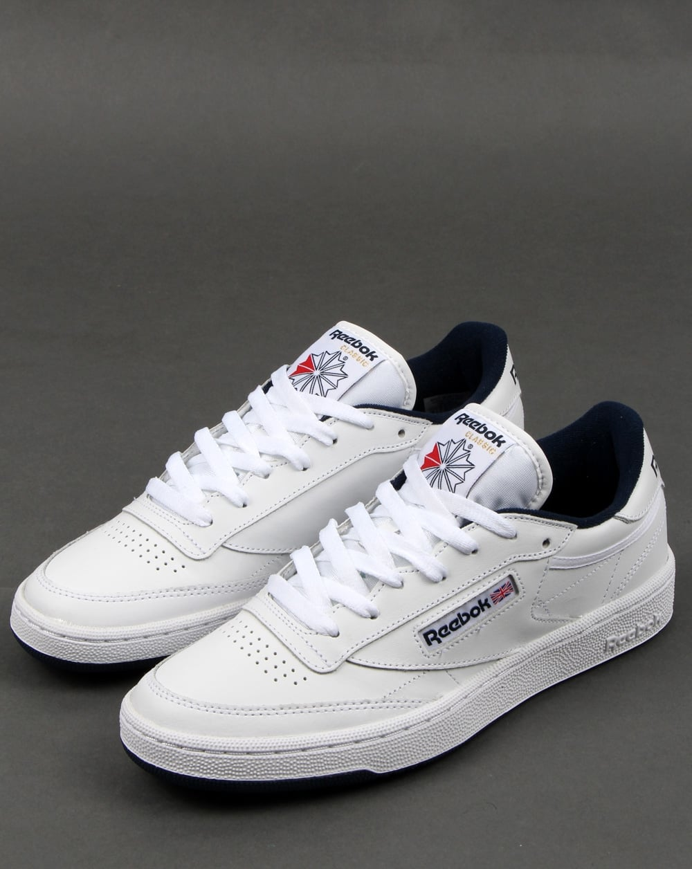 reebok club c whitenavy tennis shoes