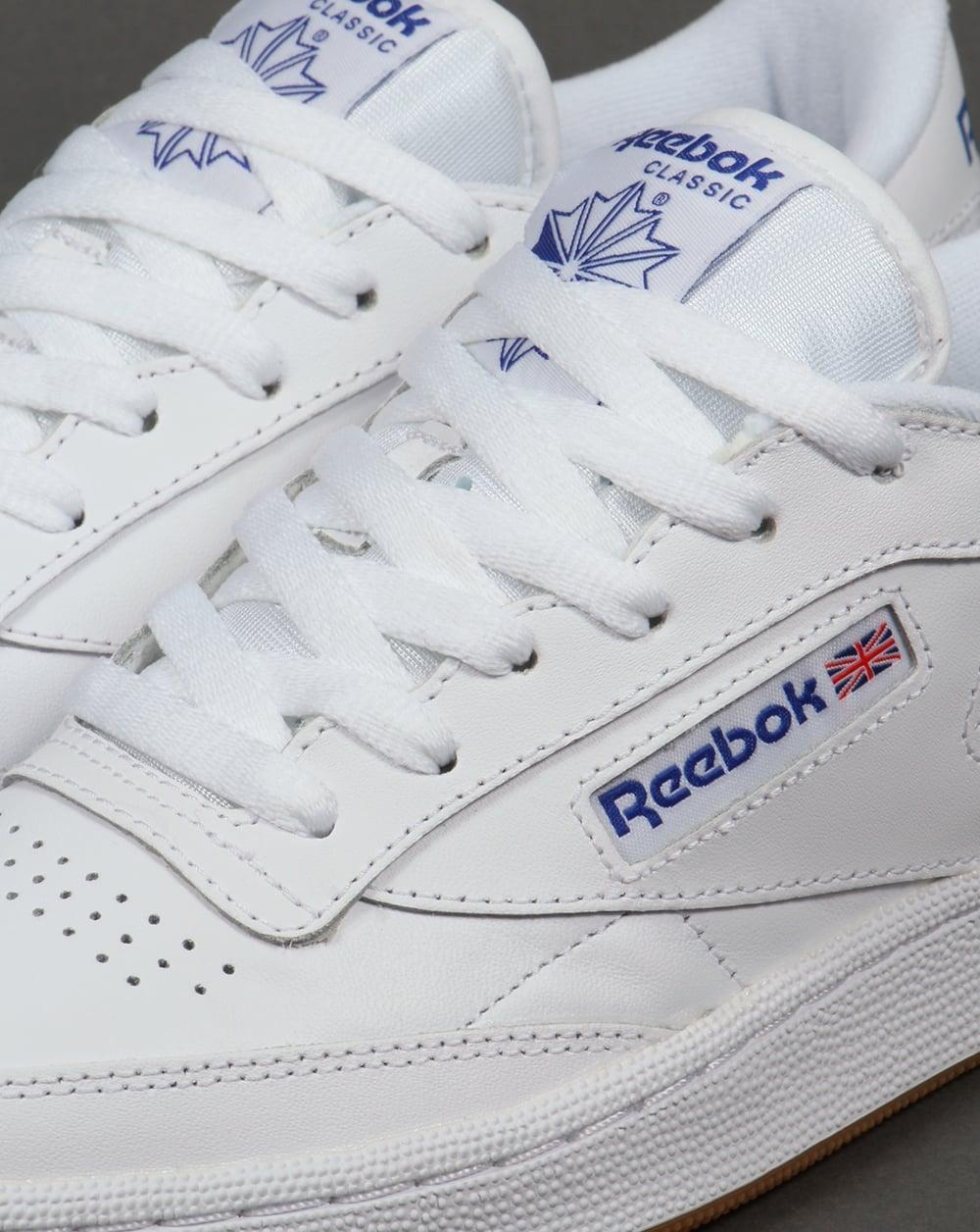 46e6320d095 Reebok Club C 85 Trainers in White Royal Gum