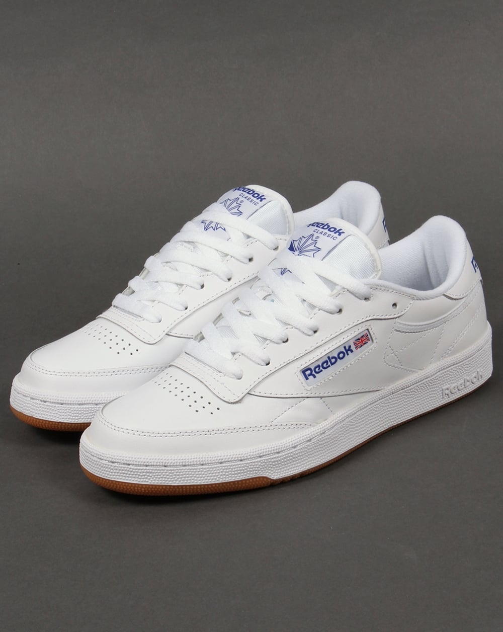reebok club c 85 trainers white royal gum shoe gum mens. Black Bedroom Furniture Sets. Home Design Ideas