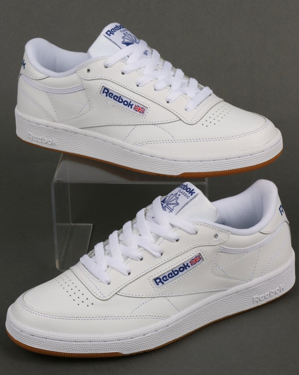 Reebok Club C 85 Trainers WhiteRoyalGum