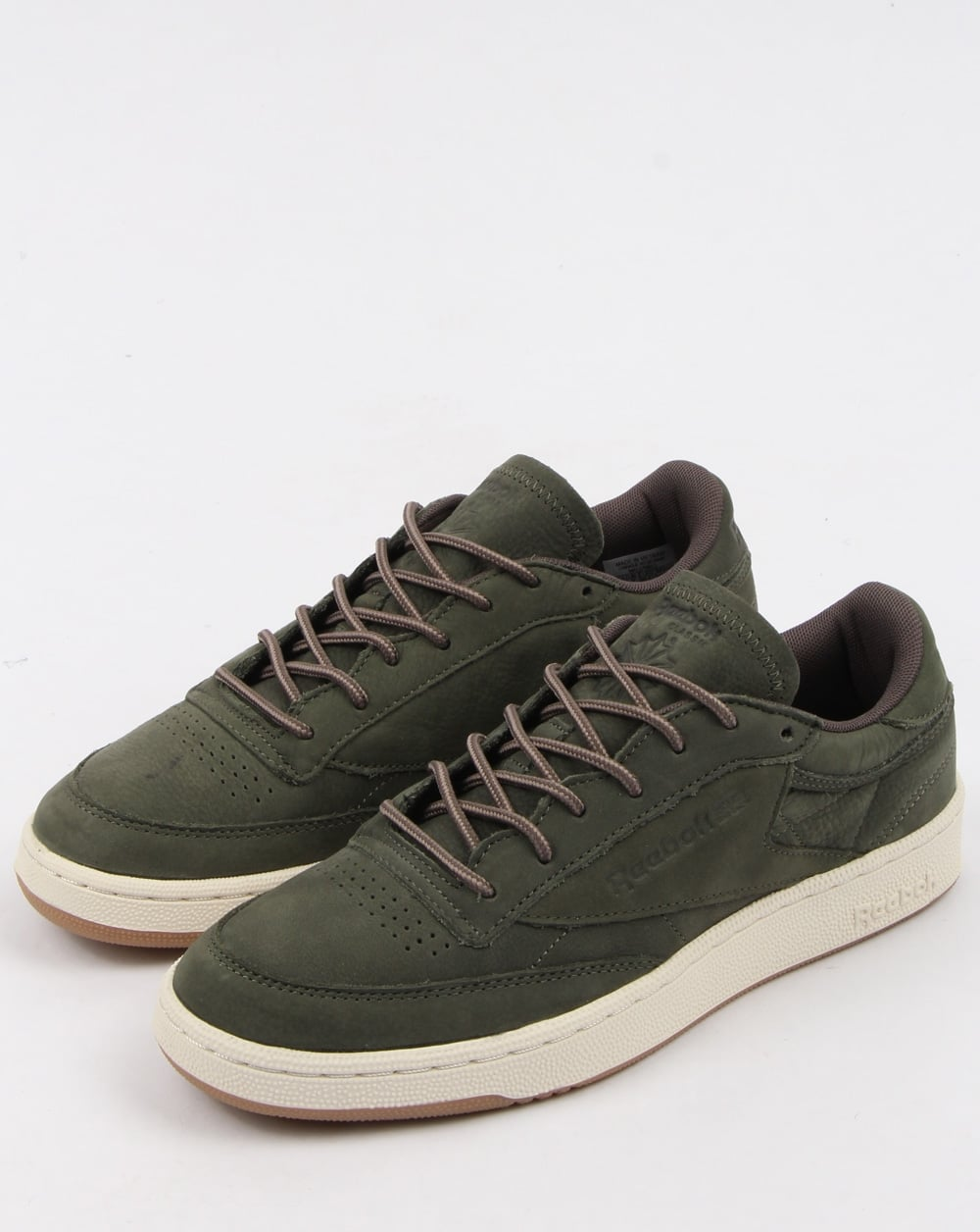 b8aaf708181 Reebok Club C 85 Wp Trainers Hunter Green Grey