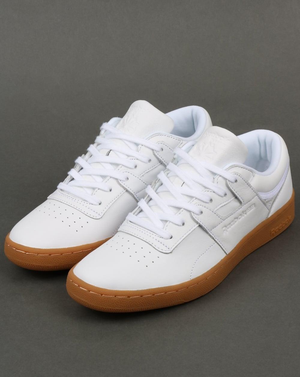 quality design 1464d f3c3d Reebok Club Workout Trainers White Gum