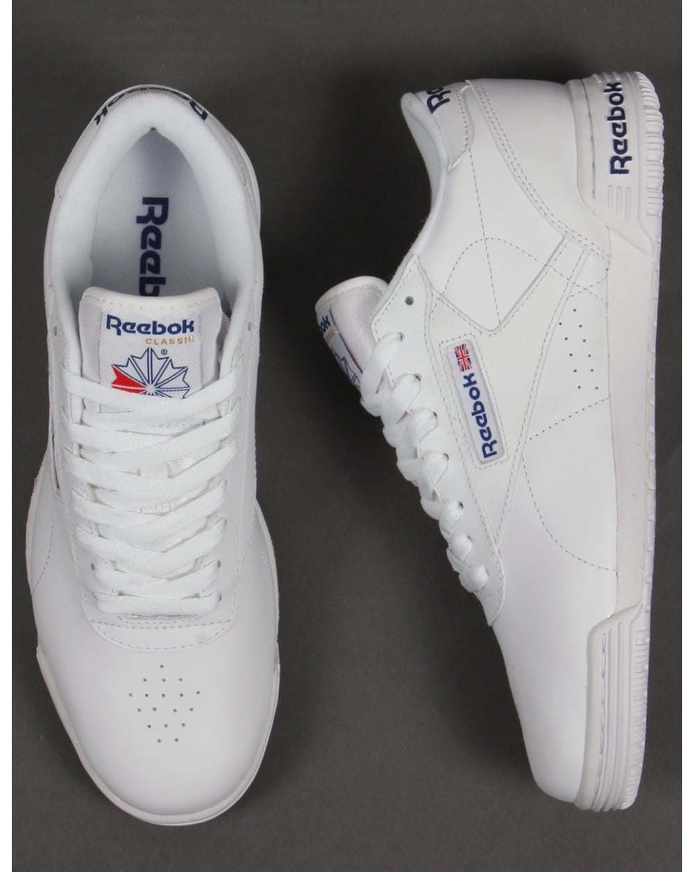 4174a445f2a Reebok Exofit Lo Clean Logo Trainers White - Trainers from 80s ...