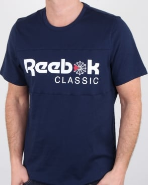 Reebok Franchise Iconic T Shirt Navy