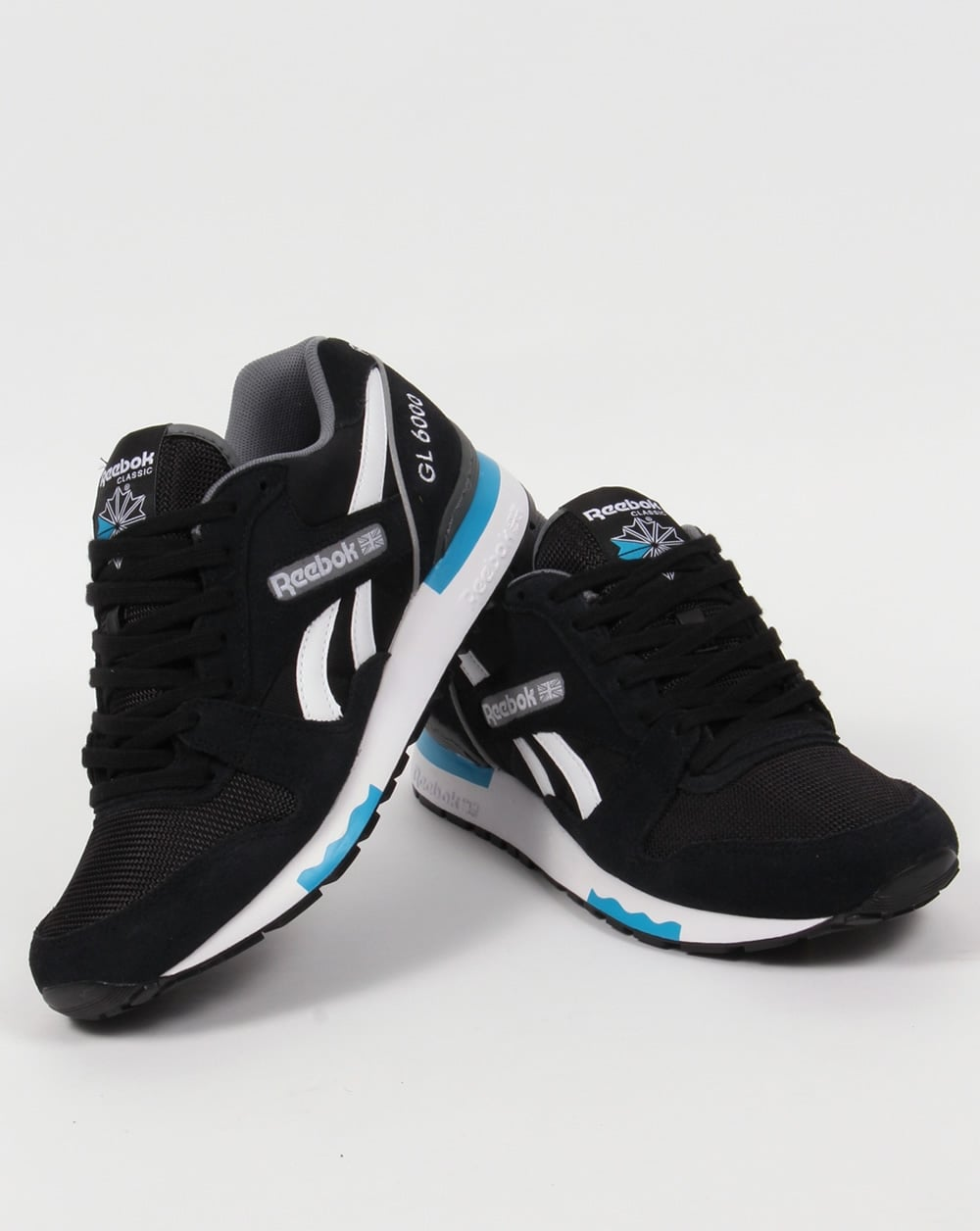 90475f325744 Reebok GL 6000 PP Trainers Black Alloy Blue