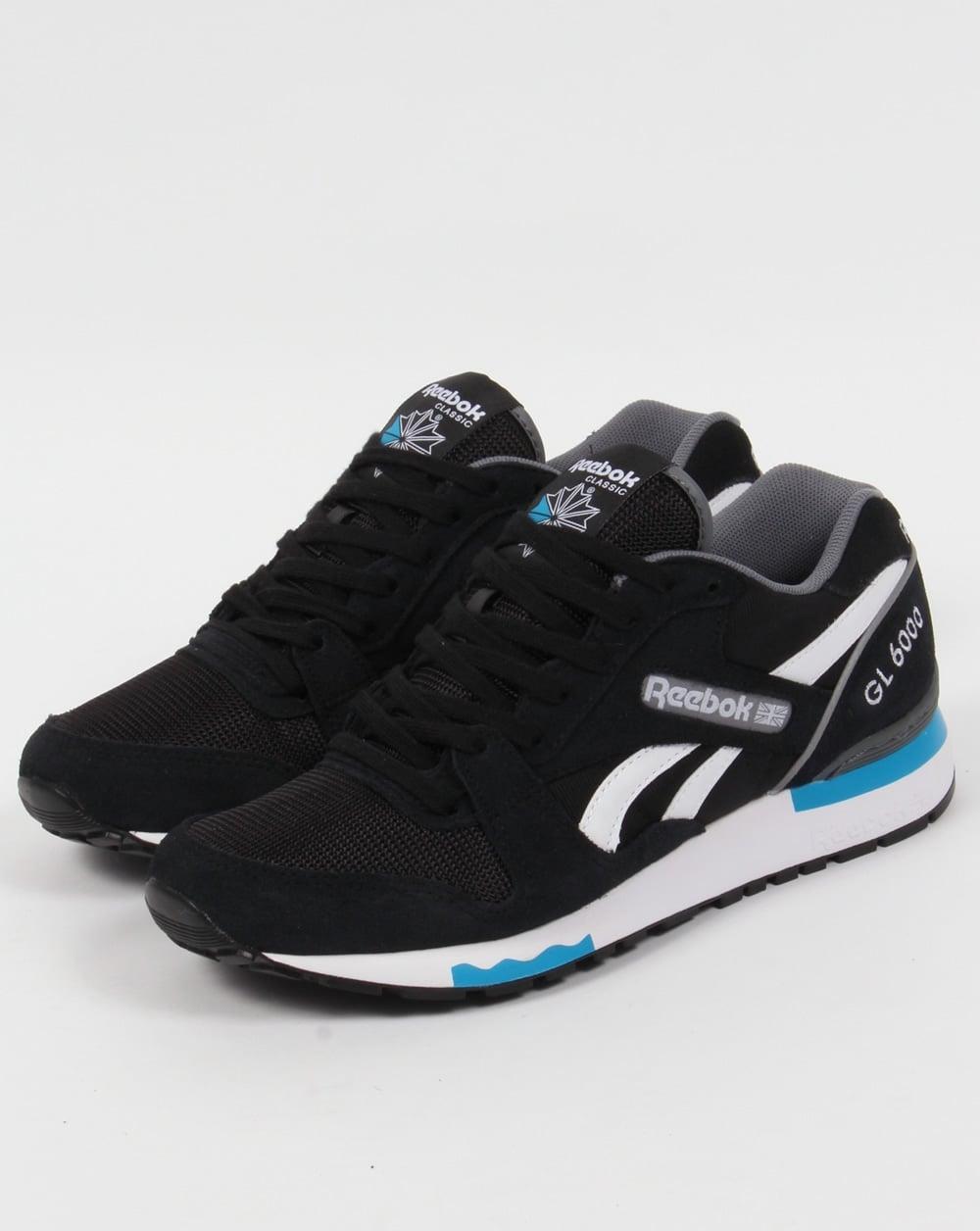 Reebok GL 6000 PP Trainers Black/Alloy/Blue