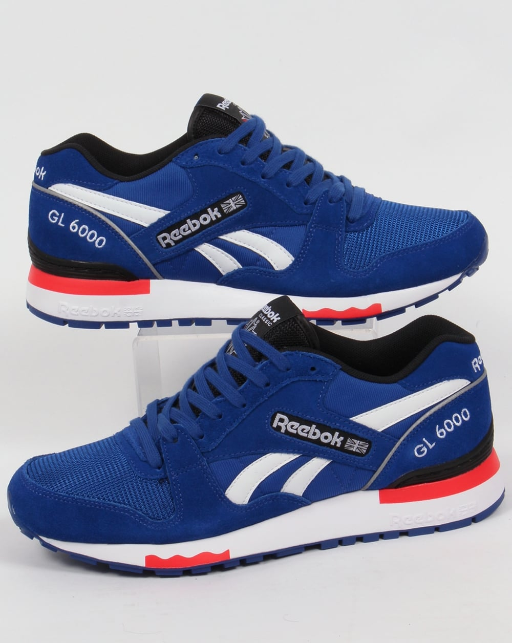 reebok gl 6000 pp trainers dark royal red shoes runners mens. Black Bedroom Furniture Sets. Home Design Ideas