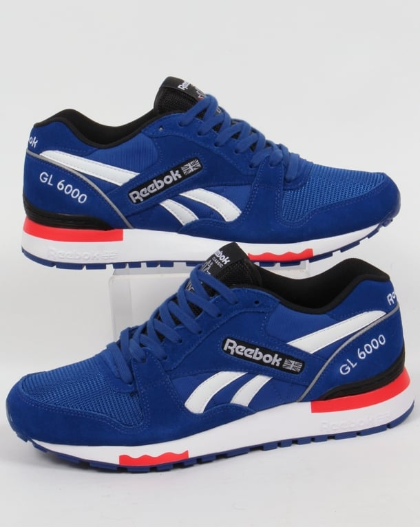 Reebok GL 6000 PP Trainers Dark Royal/Red