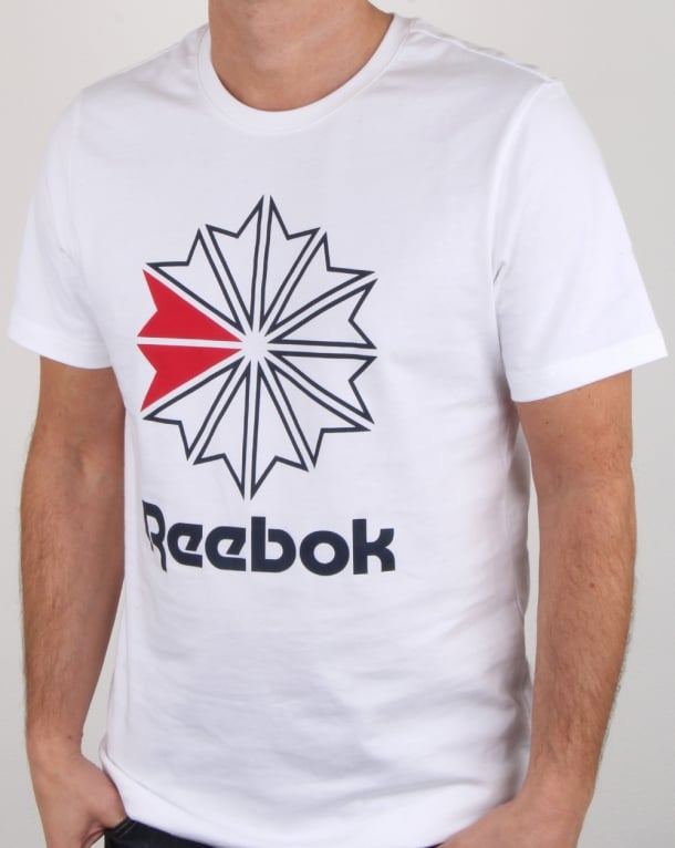 Reebok Gr T Shirt White, Mens, Tee, Cotton, Logo