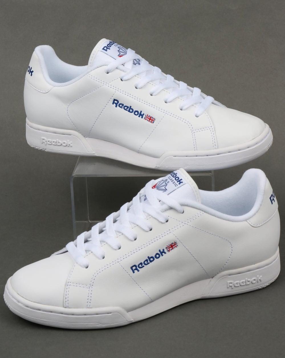 venta directa de fábrica nueva colección detalles para Reebok NPC II Trainers White/White