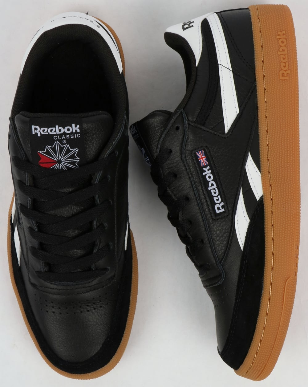 Reebok Revenge Plus Gum Trainers Black White Gum 459ba1a15