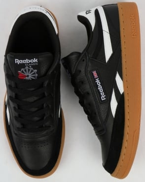 Reebok Revenge Plus Gum Trainers Black/White/Gum
