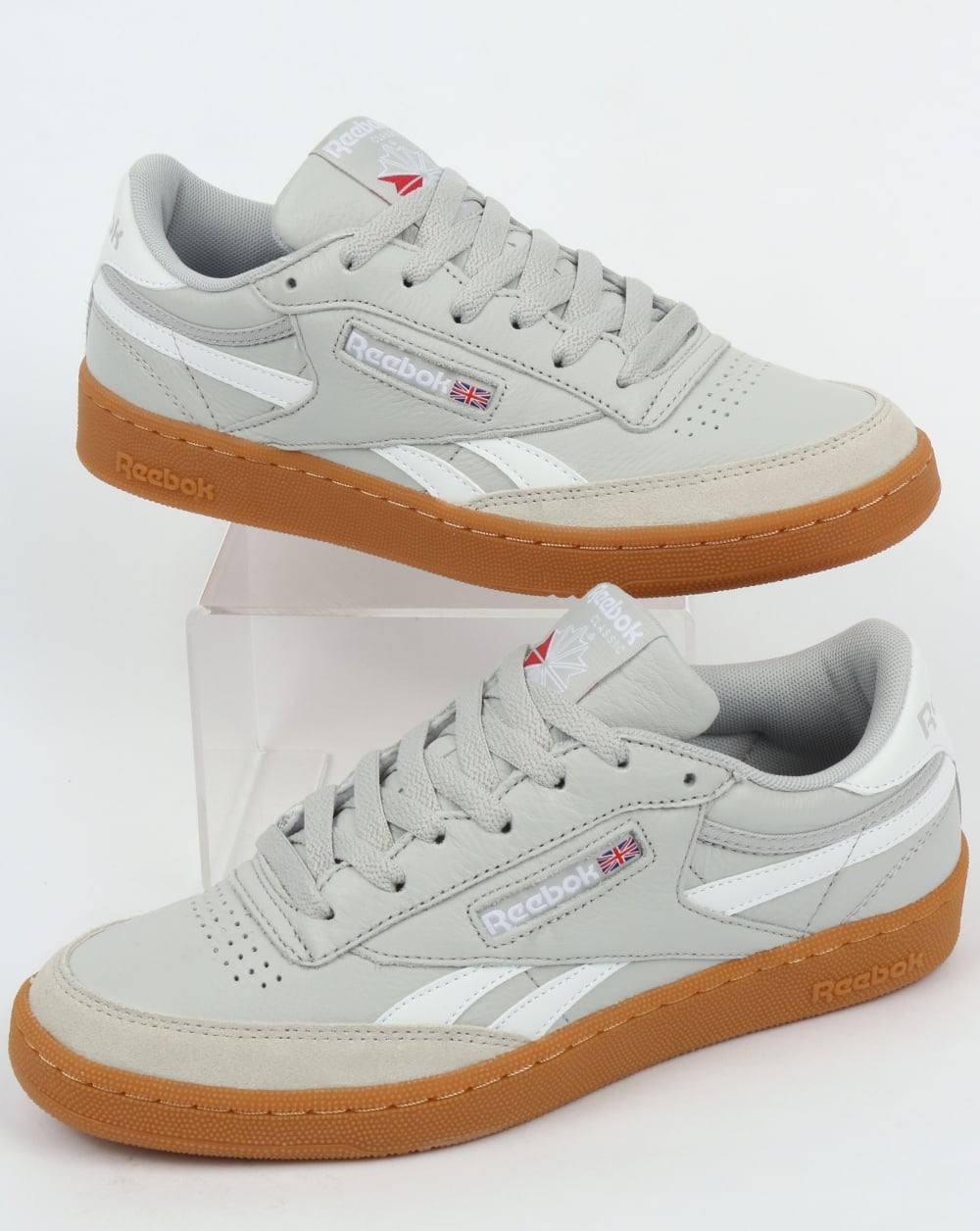 7428a654ac608 Reebok Reebok Revenge Plus Gum Trainers Skull Grey White