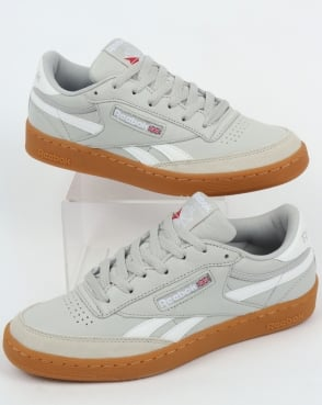 Reebok Revenge Plus Gum Trainers Skull Grey/White