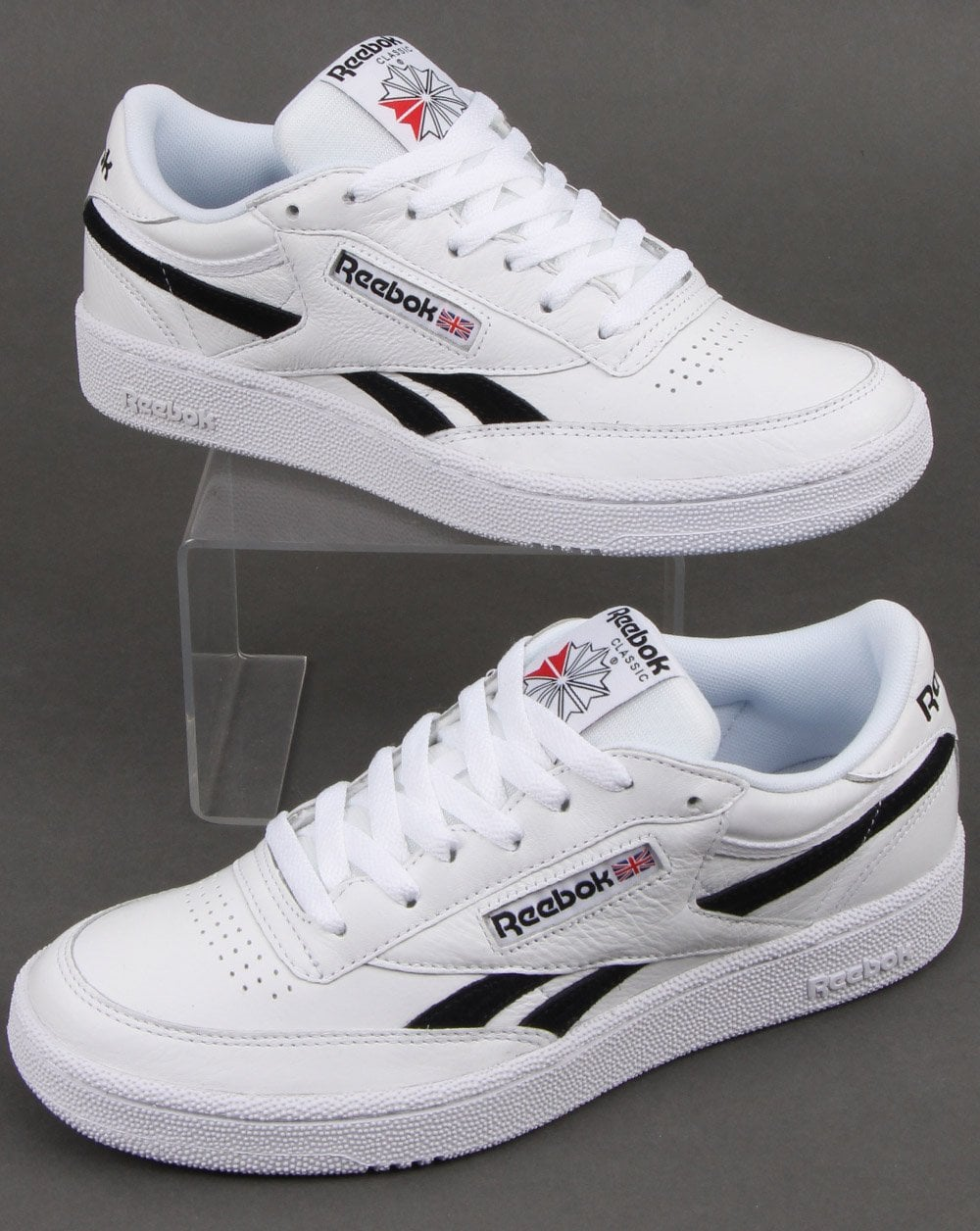 reebok shoes white and black