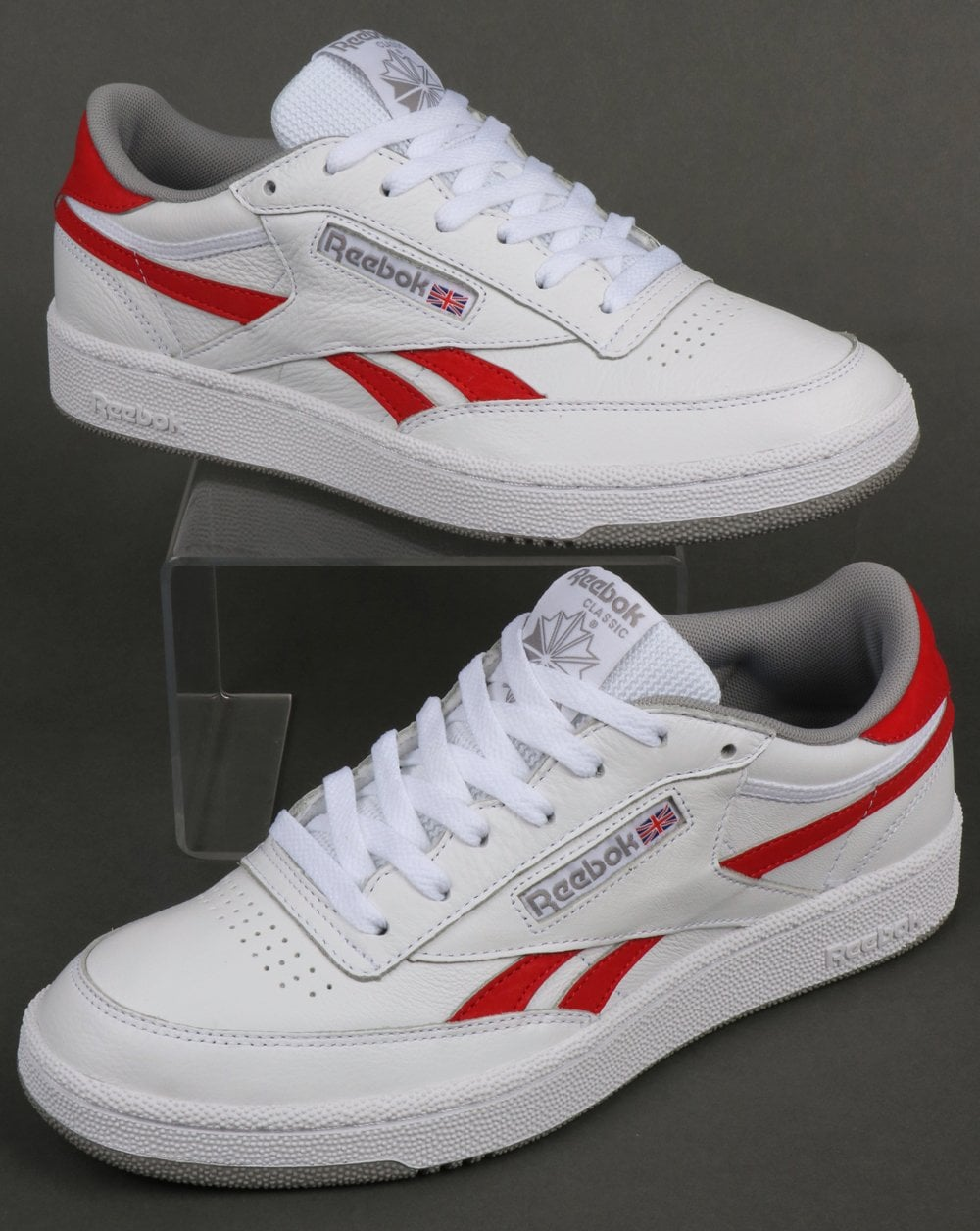 Reebok Reebok Revenge Plus Trainers White Red d04c156e580