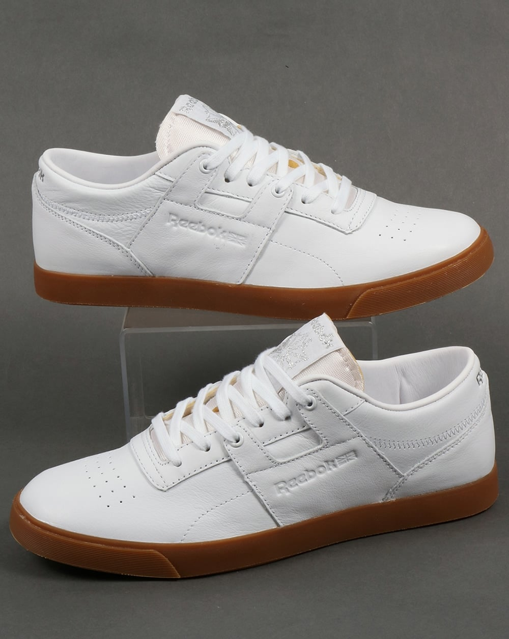 Reebok Workout Low CLN FVS Trainers White Silver Gum ... d2077d87f