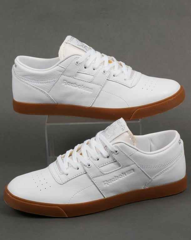 Reebok Workout Low CLN FVS Trainers White/Silver/Gum