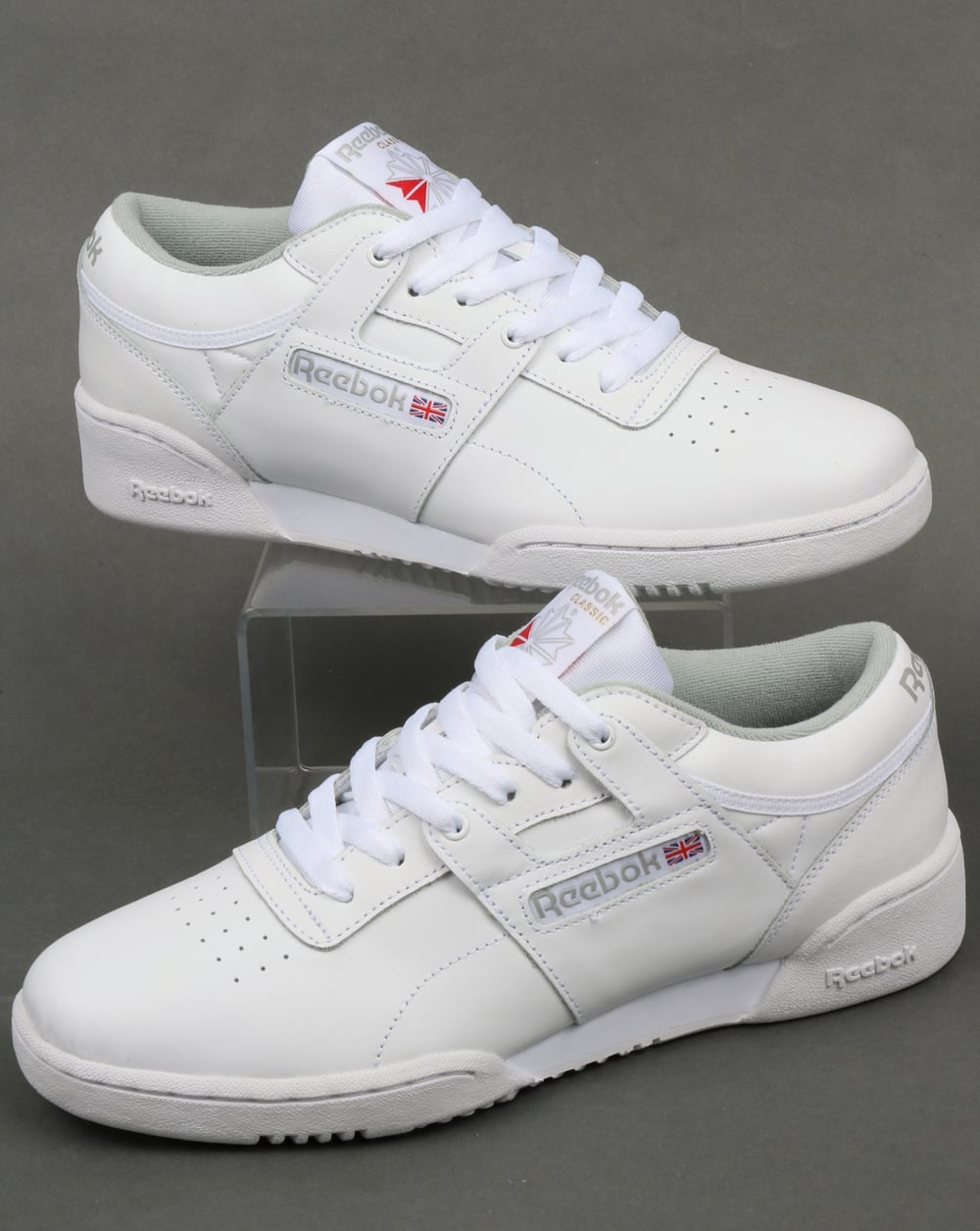 95a6a499b20d0 Reebok Reebok Workout Low Trainers White Grey