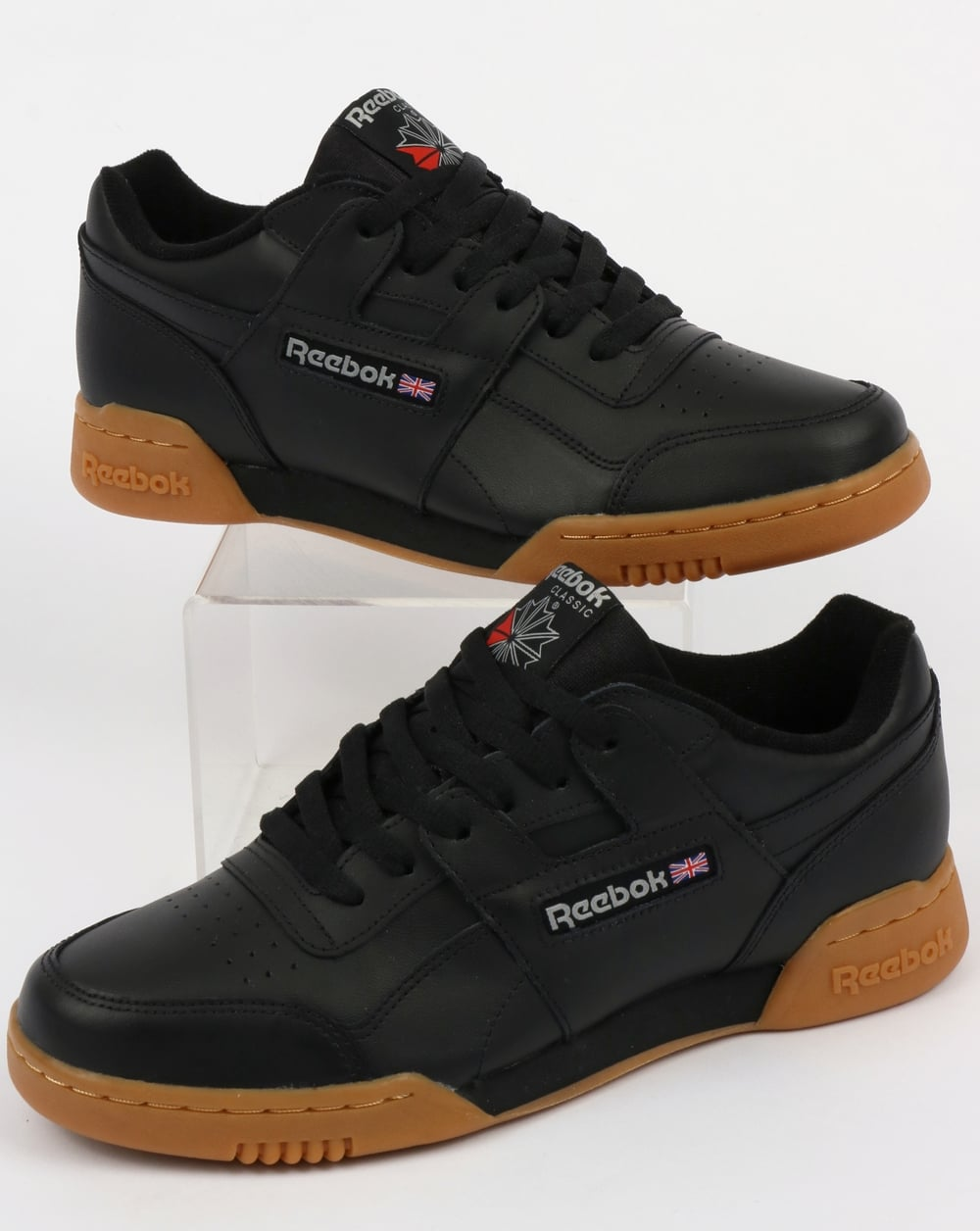outlet store a5dca ab565 Reebok Reebok Workout Plus Trainers Black Carbon Gum