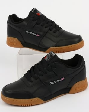 Reebok Workout Plus Trainers Black/Carbon/Gum