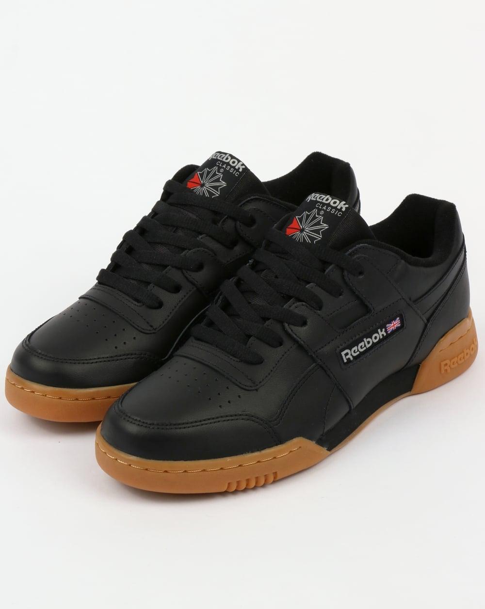 cheap price autumn shoes 2019 wholesale price Reebok Workout Plus Trainers Black/Carbon/Gum