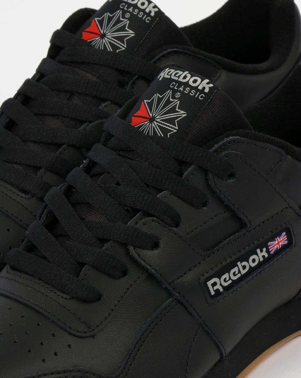 6e382d65757 Reebok Workout Plus Trainers Black Carbon Gum
