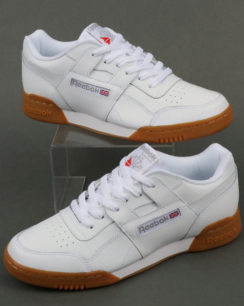 b83fee21c35 Reebok Reebok Workout Plus Trainers White Carbon Gum