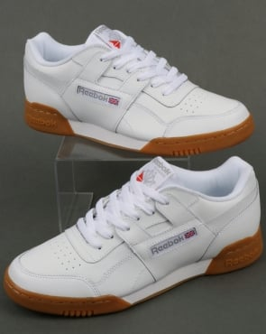 Reebok Workout Plus Trainers White/Carbon/Gum