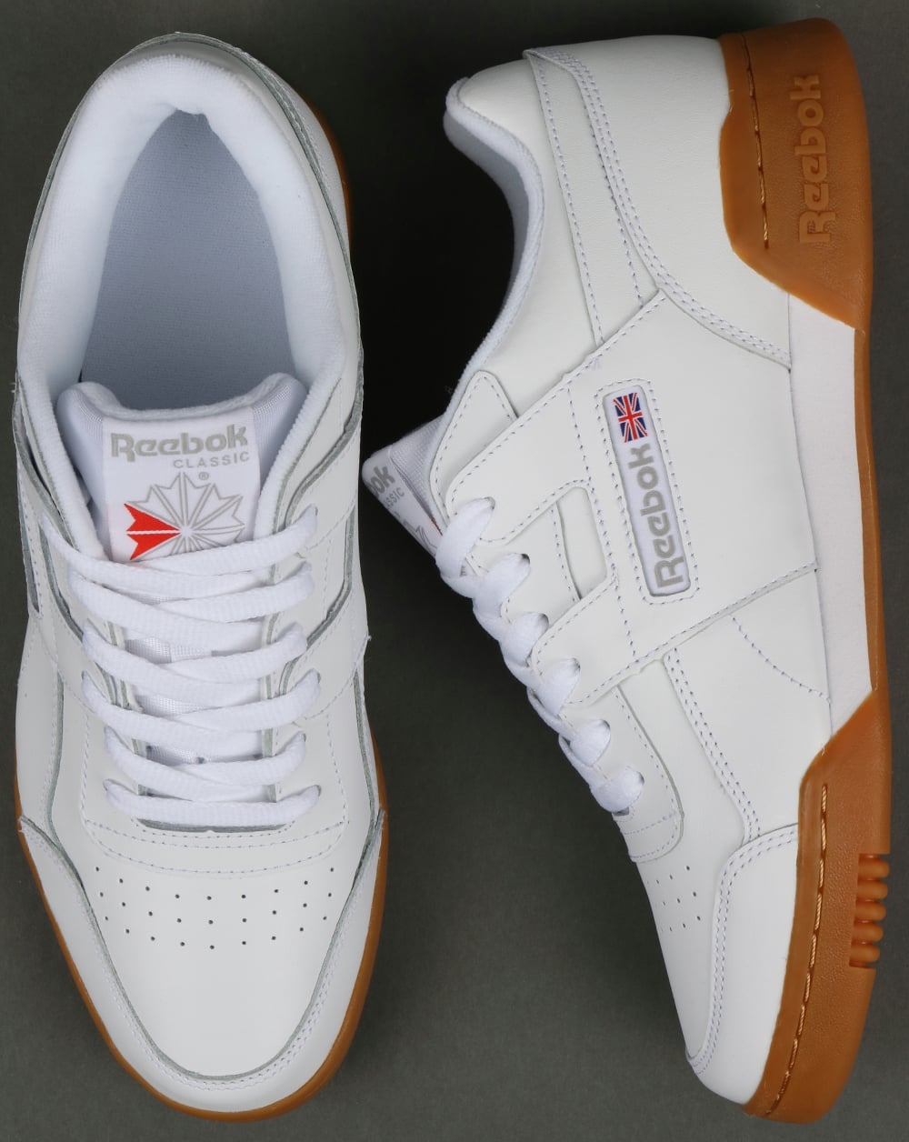 Reebok Workout Plus Trainers in White