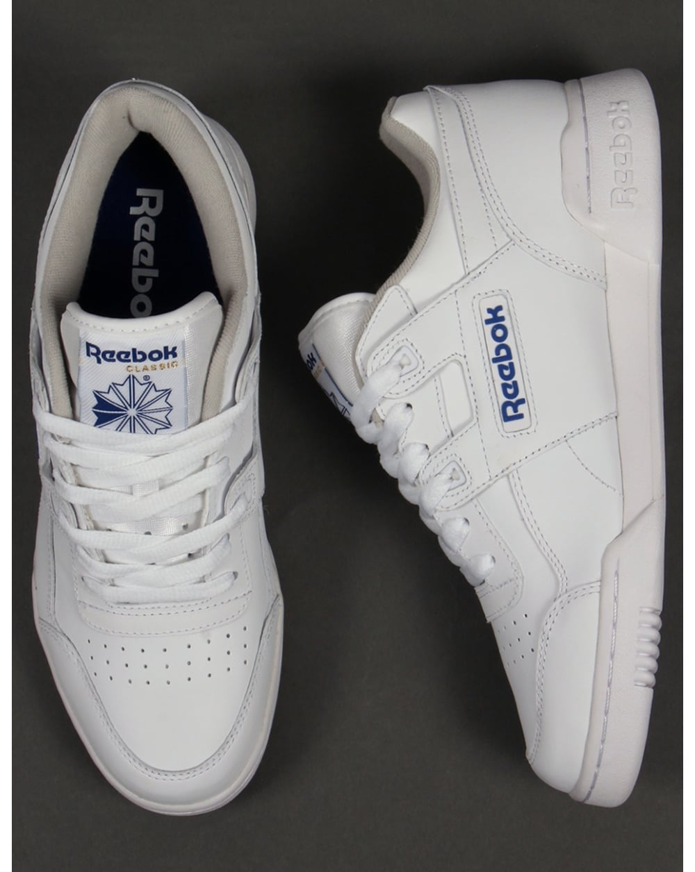 reebok white leather trainers