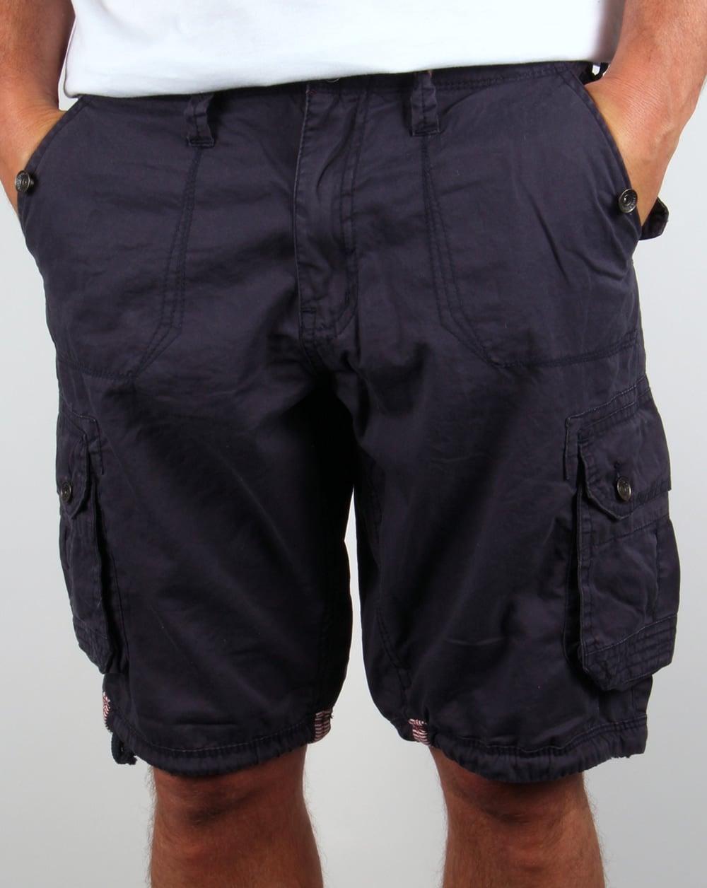 Ringspun Combat Shorts Navy Blue,cargo,multi pocket,mens