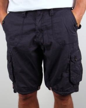 Ringspun Combat Shorts Navy Blue
